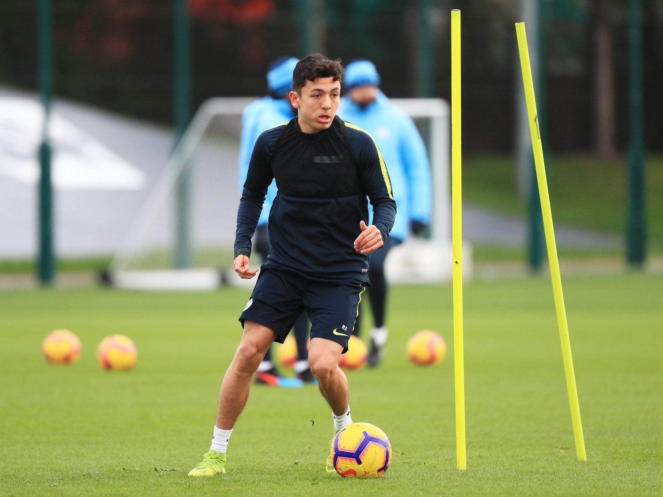 Ian-Poveda-Manchester-City-training